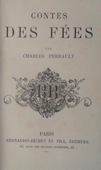 Title page of Perrault, Contes des Fées, c. 1863 – c. 1901.