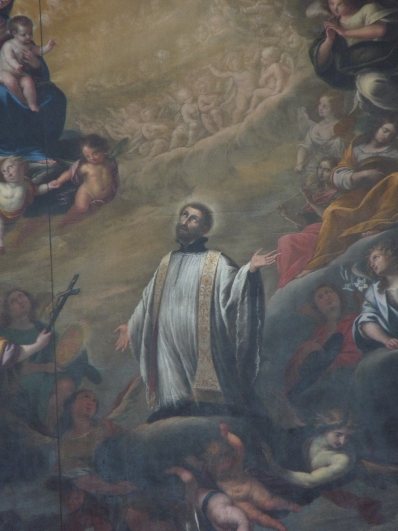Torriani, Saint Francis Xavier (detail from an altar painting), 1681. Jesuitenkirche St. Franz Xaver, Lucerne. Wikimedia Commons.