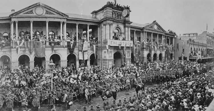 World war i dates in Brisbane