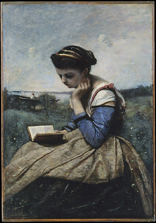 Camille Corot (French, Paris 1796-1875 Paris) A woman Reading. The Metropolitical Museum of Art.