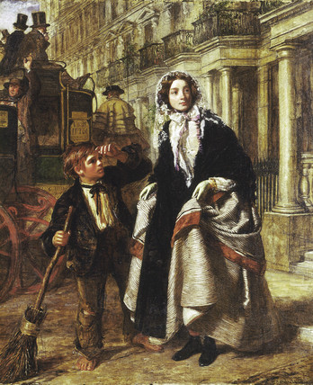 'The Crossing Sweeper' by William Powell Frith, 1858; oil on canvas. The Museum of London.