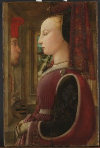 Fra Filippo Lippi, Portrait of a Woman with a Man at a Casement, c. 1440. © Metropolitan Museum of Art