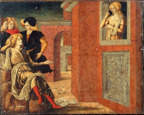 Image: 'Scene from a Novella'. by Liberale da Verona, ca. 1445–1527. Courtesy of The Metropolitan Museum of Art.