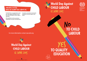 'Against Child Labou'r flyer from the International Labour Organisation.