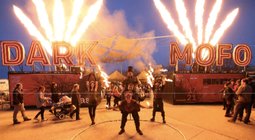 Dark Mofo 2015 Fire Twirlers. Photo credit: Derek Tickner, courtesy of Dark Mofo