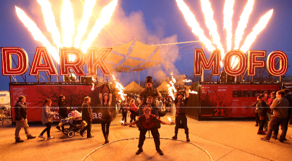 Dark Mofo 2015 Fire Twirlers. Photo credit: Derek Tickner, courtesy of Dark Mofo