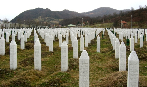 Srebrenica massacre memorial, 2009.