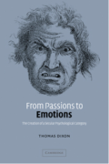 Cover of 'From Passions to Emotions' by Thomas Dixon.