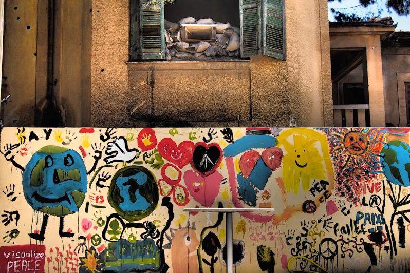 Nicosia, Cyprus, July 2014: peace graffiti in Green Zone. © Roland Bleiker.