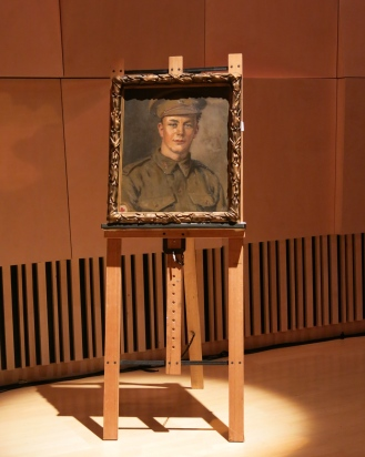 "Private Cyril T. Leishmen C1915-22 by Violet Teague (1872-1951). Oil on canvas. Shrine of Remembrance collection, photographed by Lucy Burnett at the ""Love Tokens"" premier."