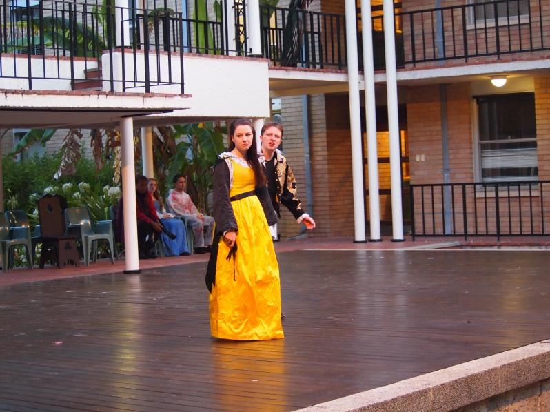 Figure 2: Beatrice-Joanna (Katrin Long) and DeFlores (Jackson Hart).