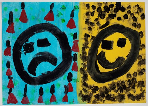 Image: Brock Brown, Feelings of Black Saturday, 2009, acrylic on paper, 29.6 x 41.8 cm, The Cunningham Dax Collection, 2015.0091