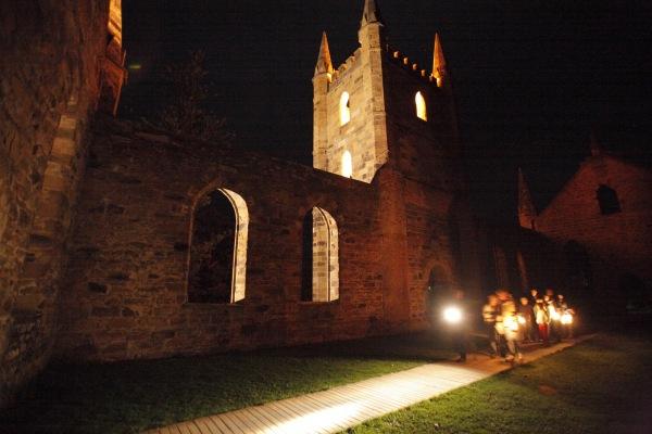 Ghost Tour at Port Arthur. Photographer: Simon Birch. Image courtesy Port Arthur Historic Site Management Authority.