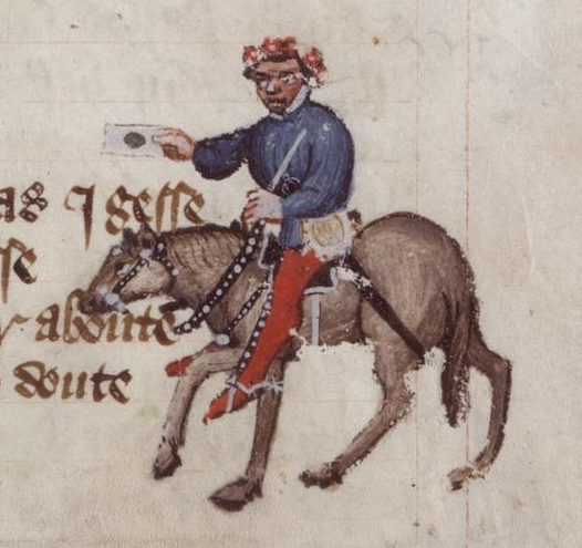 Figure 1: The Summoner in the Ellesmere manuscript of Chaucer's Canterbury Tales. Image courtesy of Wikimedia Commons.