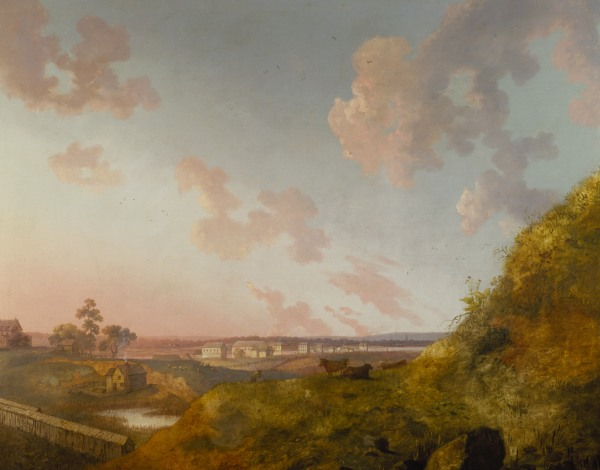 Image: William Groombridge, View of a Manor House on the Harlem River, 1793. Terra Foundation for American Art, Daniel J. Terra Collection.