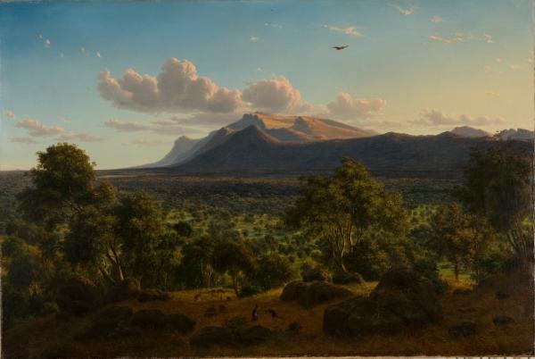 Figure 1: Eugène von Guérard, Mt William from Mt Dryden, Victoria, 1857. State Art Collection: Art Gallery of Western Australia