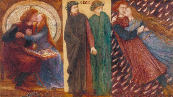 Figure 1: Dante Gabriel Rossetti, Paolo and Francesca da Rimini, 1855. Courtesy of Tate Creative Commons.