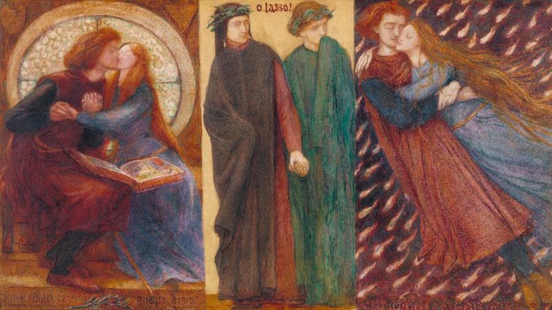 Paolo and Francesca da Rimini 1855 by Dante Gabriel Rossetti 1828-1882
