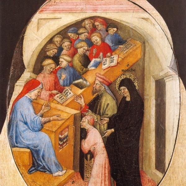 The Saint Augustine Taken to School by Saint Monica.