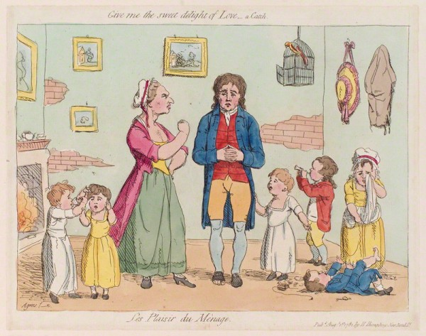 James Gillray, 'Les plaisir du mènage', published by Hannah Humphrey, 1781