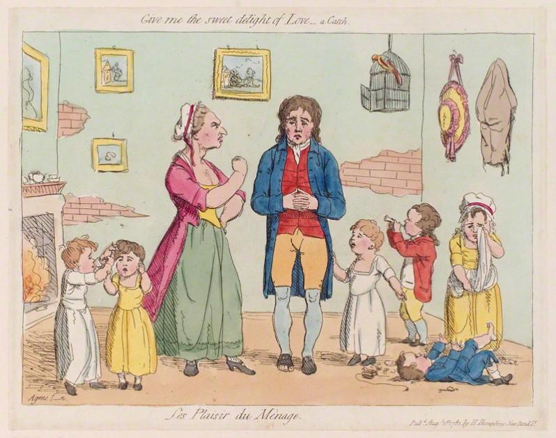 James Gillray, 'Les plaisir du mènage', published by Hannah Humphrey, 1781