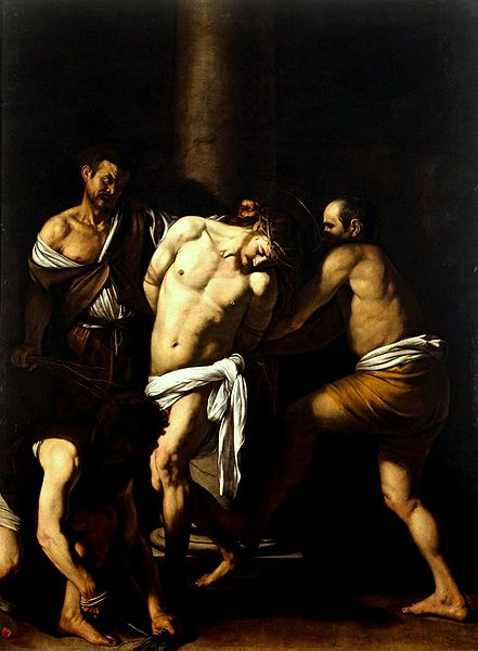 The Flagellation of Christ by Caravaggio, c.1751-1610. Courtesy of Wikimedia Commons
