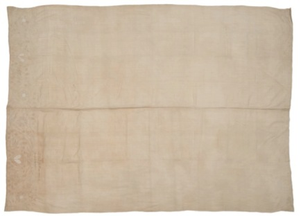 Linen bed-sheet c. 1716-30 ID: 34.63, © Museum of London.