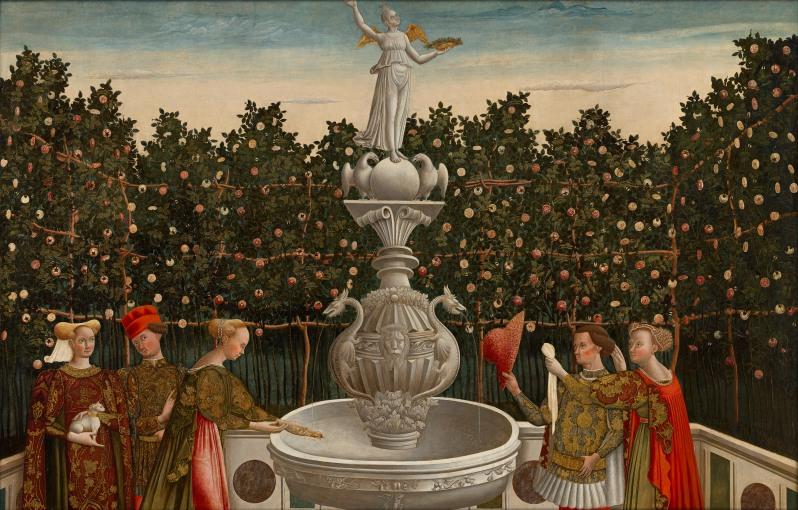Image: Master of the Stories of Helen, Antonio Vivarini (studio of), The Garden of Love (c.1465-1470), National Gallery of Victoria, Melbourne, Felton Bequest, 1948, 1827-4.