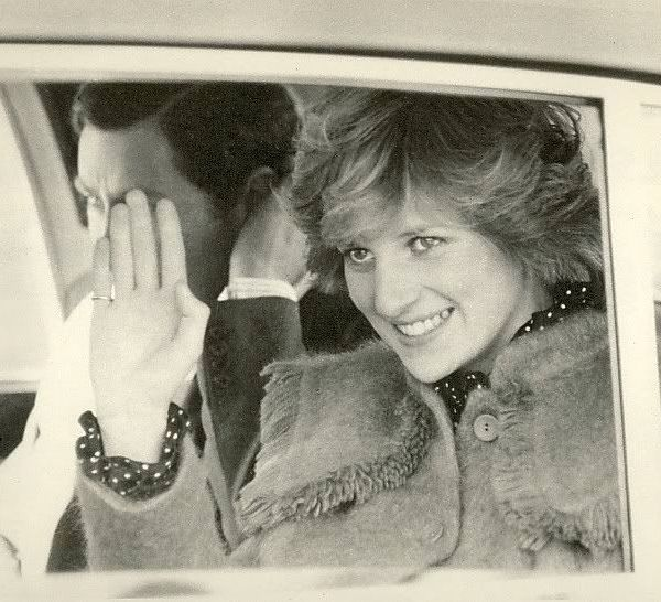Princess Diana and Prince Charles during pay their first visit to Huddersfield