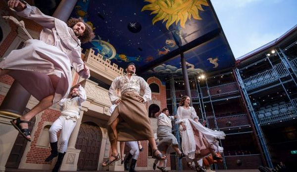 Image: A jig by any other name: Much Ado About Nothing cast members perform a dance that mixes Jacobean and Maori dances.Photo: Eddie Jim. Courtesy of the Sydney Morning Herald.