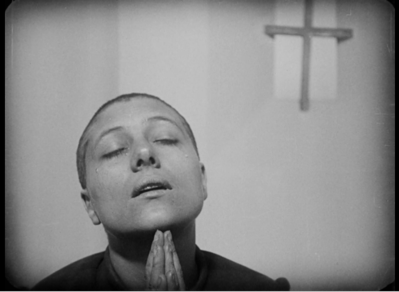 Renée Falconetti in Carl Theodore Dreyer's film 'The Passion of Joan of Arc', 1928
