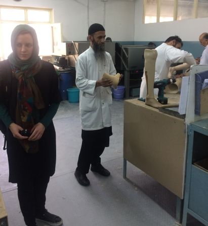 The ICRC Orthopaedic Centre in Kabul is the place where participants get their injuries checked and their prosthetics repaired or changed.