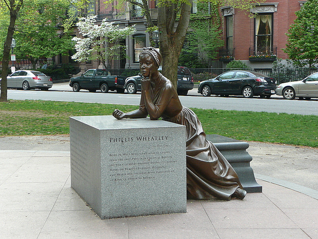 A Statue of Phillis Wheatley at the Boston Women's Memorial (Courtesy of Lorianne DiSabato, Flickr (CC BY-NC-ND 2.0)