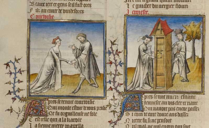 Image: Unknown, Guillaume de Lorris, and Jean de Meun (French, about 1240/1260 - 1305), Roman de la Rose, about 1405. Courtesy of The J. Paul Getty Museum, Los Angeles.