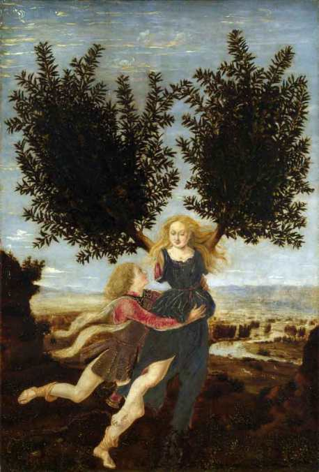 Apollo and Daphne by Piero del Pollaiolo c.1470–80. Courtesy of Wikimedia Commons.