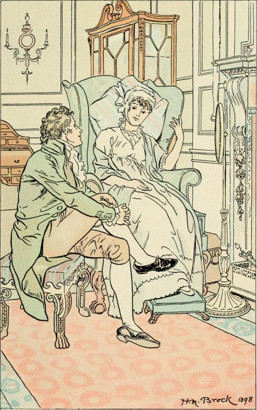 Pride and Prejudice, Chapter 10, Illustration by HM Brock. c. 1898. Courtesy of Wikimedia Commons.