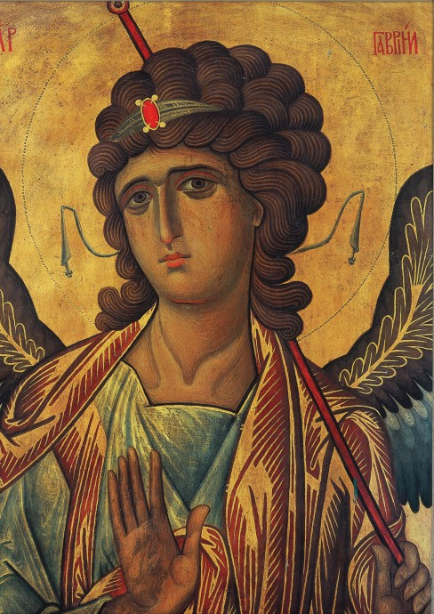 Image of archangel Gabriel, thirteenth-century icon from the Monastery of St Catherine, Sinai, Egypt.