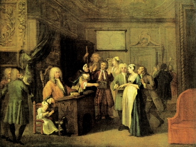 William Hogarth, Die Denunziation