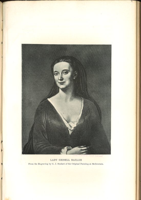 Image of engraving of Lady Grisell Baillie by G. J. Stodart