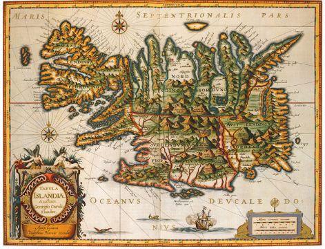 Tabula Islandiæ, Georgius Carolus Flandrus, 1638.