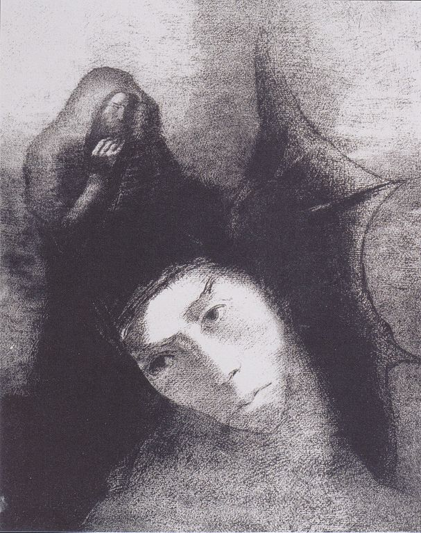 Image from Odilon Redon's series Tentation de saint Antoine from 1896