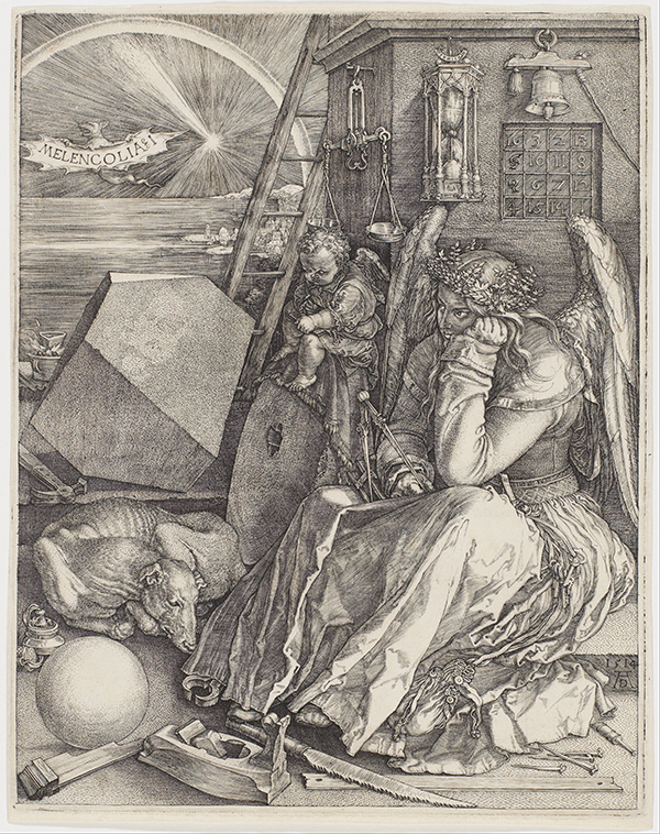 Image of Melancholia I by Albrecht Dürer from 1514